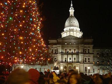 冬の州議事堂